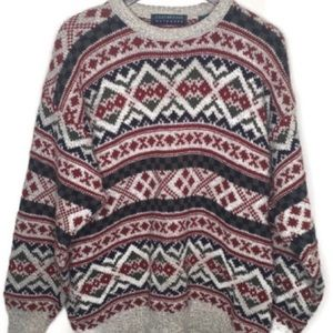Men's Claybrooke Patterned Sweater Sz XL